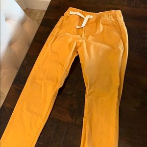 kids size 8 old navy yellow cute joggers